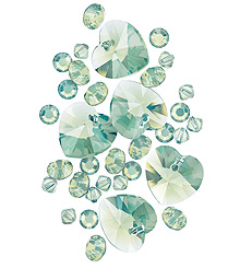 new color from Swarovski called Chrysolite Opal
